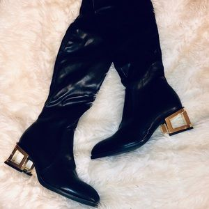 NWOTJeffrey Campbell Basie MH Thigh High Gold Heel